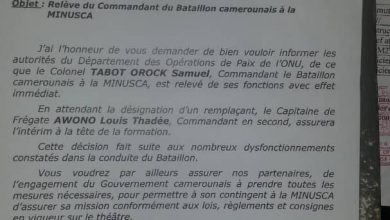 Photo of Cameroonian dismissed as head of UN joint military tasked force in Central Africa Republic