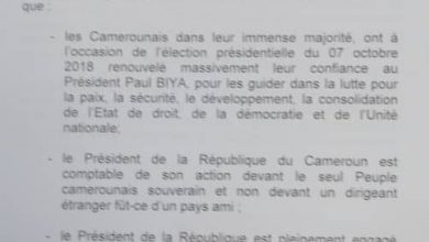 Photo of Biya uses Presidency SG to reply Macron