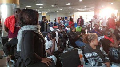 Photo of Cameroonians stranded at Jomo Kenyatta Airport as government shuts borders to limit corona virus spread