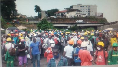 Photo of Hundreds of Dockers at Douala Sea Port take to the street to demand better pay