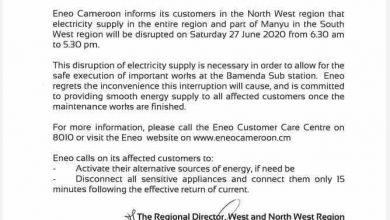 Photo of North West Region and Manyu Division to suffer blackouts