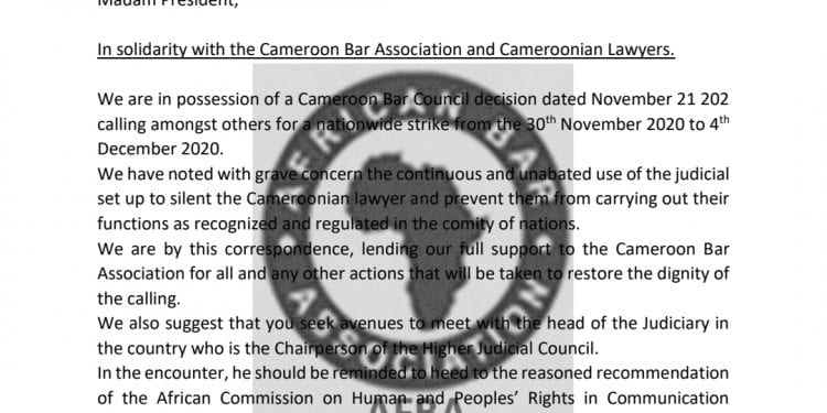 African Bar Association acclaims lawyers' planned demonstrations in Cameroon